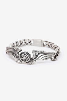 WINGS CHAIN SILVER BRACELET[one color / 8size]