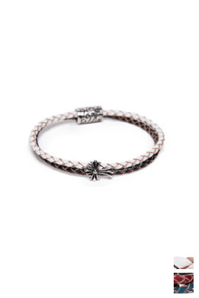 LEATHER CROSS BRACELET가죽 자석 십자가 팔찌[2color / one size]